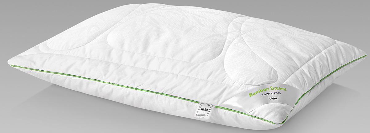 Подушка Togas Бамбук Дримс, наполнитель: бамбуковое волокно, цвет: белый, 50 x 70 см подушки 1st home подушка 50 70 лён
