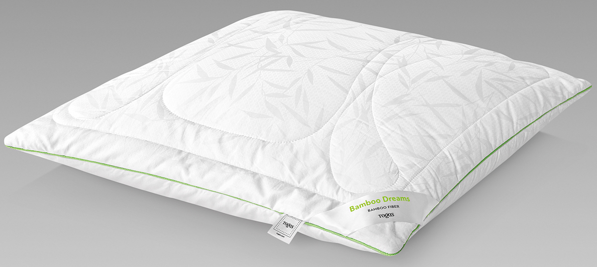 Подушка Togas Бамбук Дримс, наполнитель: бамбуковое волокно, цвет: белый, 70 x 70 см подушки 1st home подушка 50 70 лён