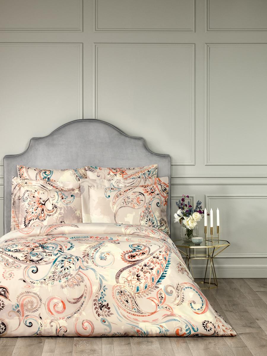 Комплект белья Togas Адажио, 1,5-спальный, наволочки 50x70, цвет: светло-бежевый. 30.07.98.0002 комплект постельного белья унисон бархат