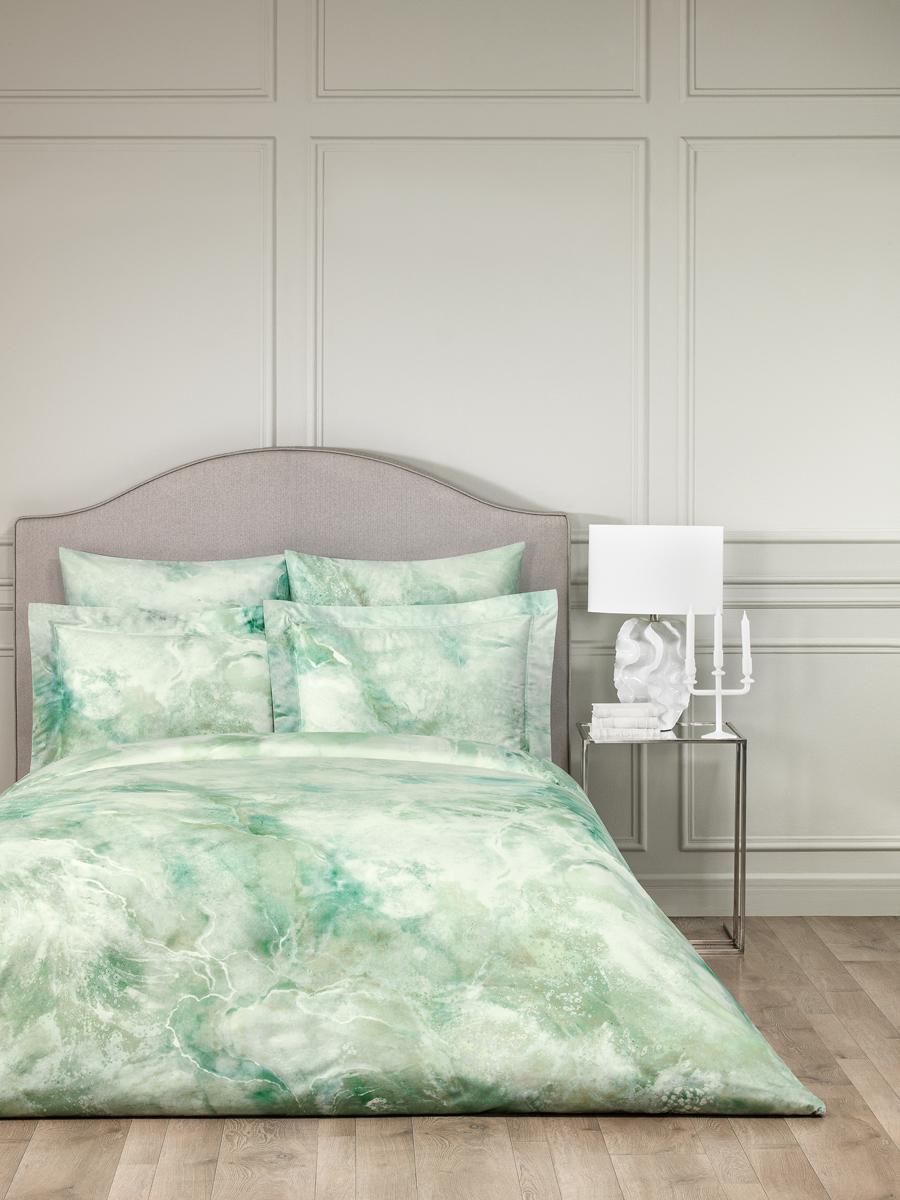 Комплект белья Togas Терра, 1,5-спальный, наволочки 50x70, цвет: зеленый. 30.07.99.0053 комплект белья mirarossi sofia 2 спальный наволочки 70х70 цвет кремовый зеленый сиреневый