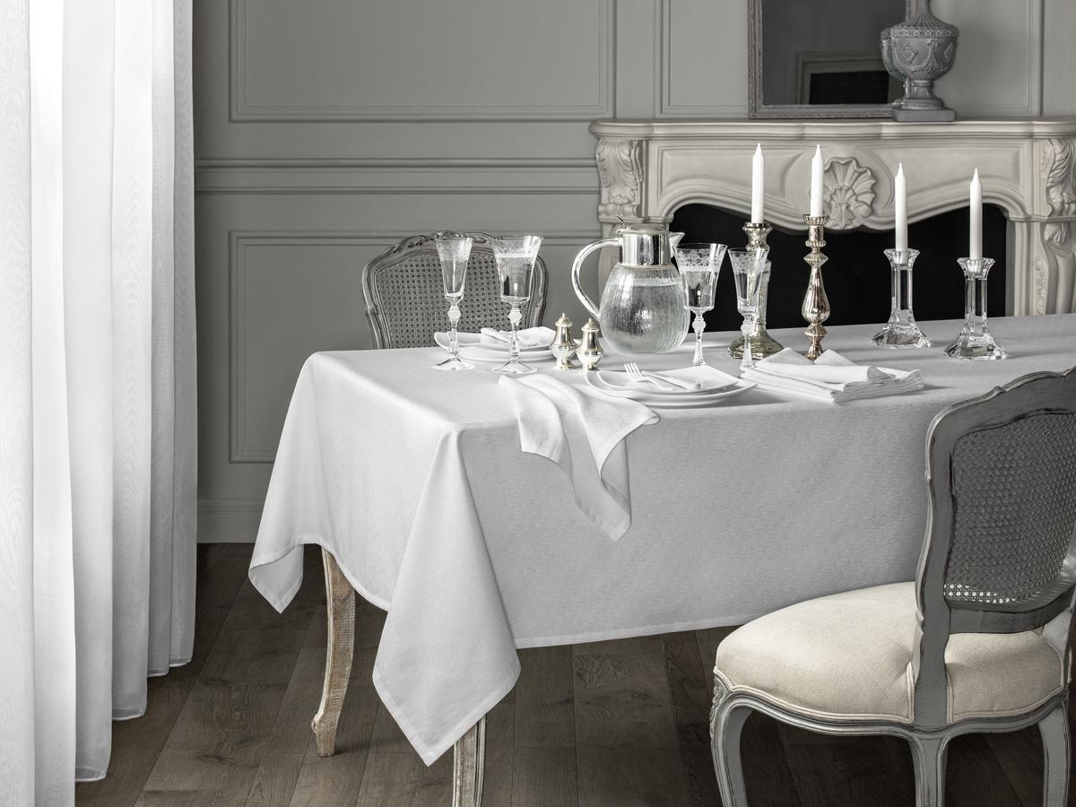Комплект столового белья Togas Катрин, цвет: белый, 7 предметов скатерти t