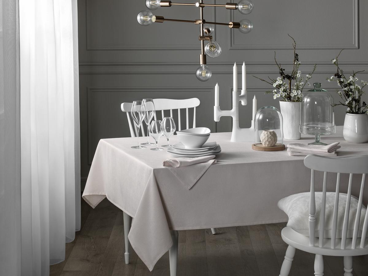 Комплект столового белья Togas Сабина, цвет: бежевый, 7 предметов скатерти t
