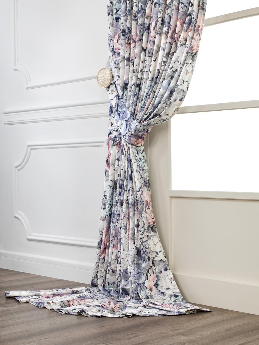 Комплект штор Togas Доминик, на ленте, цвет: фиолетовый, высота 300 см, ширина 280 см, 2 шт комплект кухонный 8 предметов togas цвет фиолетовый