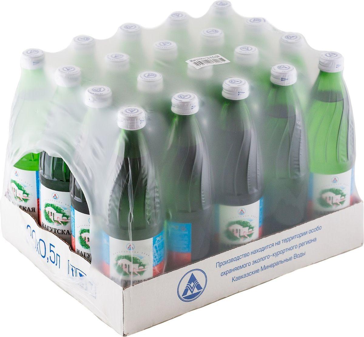 Нагутская Вода минеральная, 20 шт по 0,5 л мосли м диета здорового желудка и кишечника