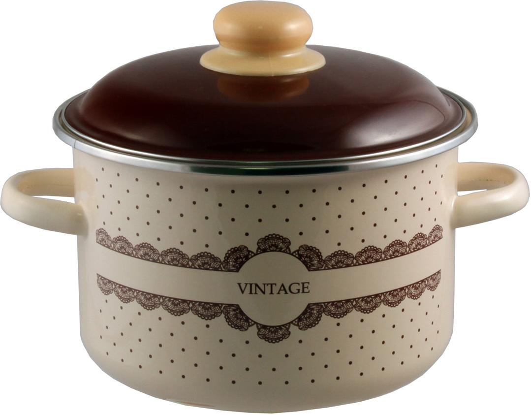 """Кастрюля эмалированная Appetite """"Vintage"""" станет украшением вашей кухни и поможет вам готовить вкусные блюда."""