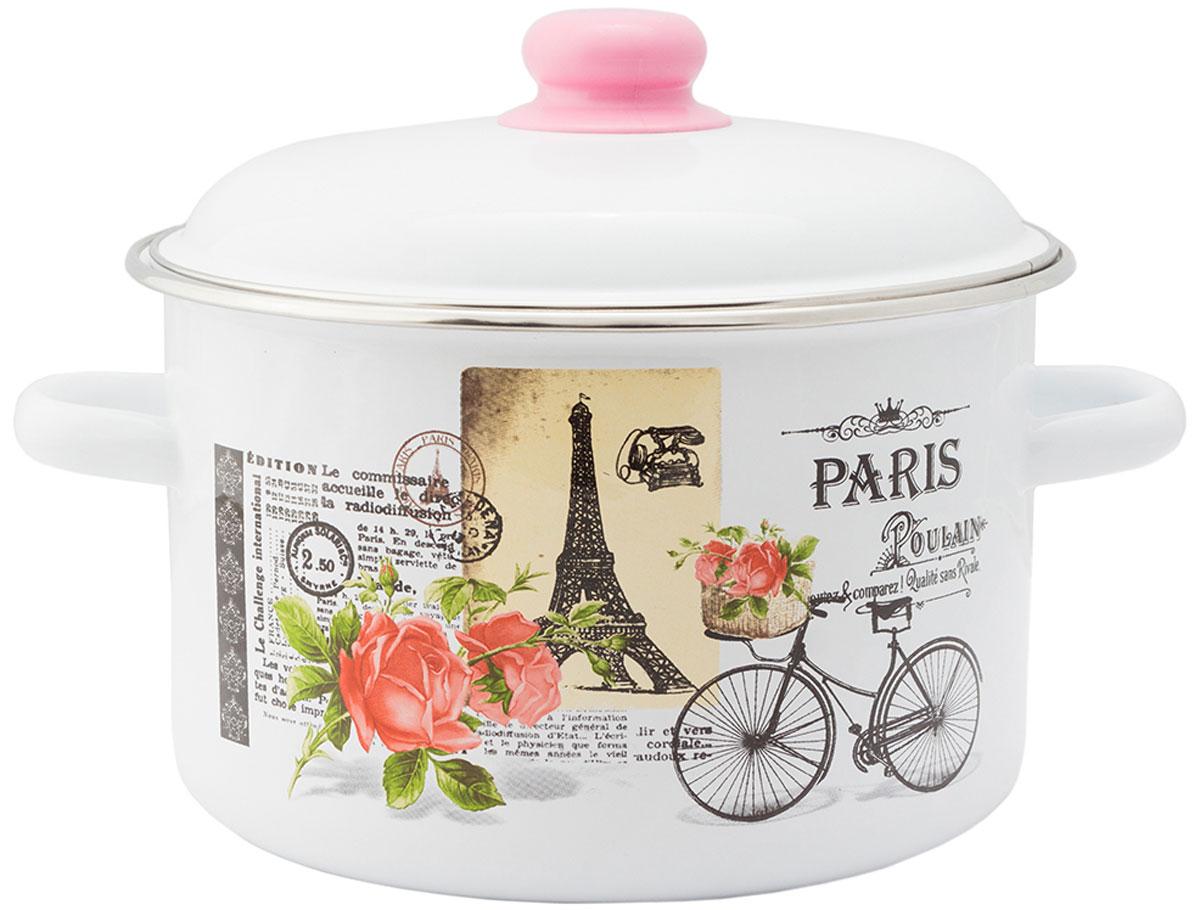 """Кастрюля эмалированная Appetite """"Париж"""" станет украшением вашей кухни и поможет вам готовить вкусные блюда."""