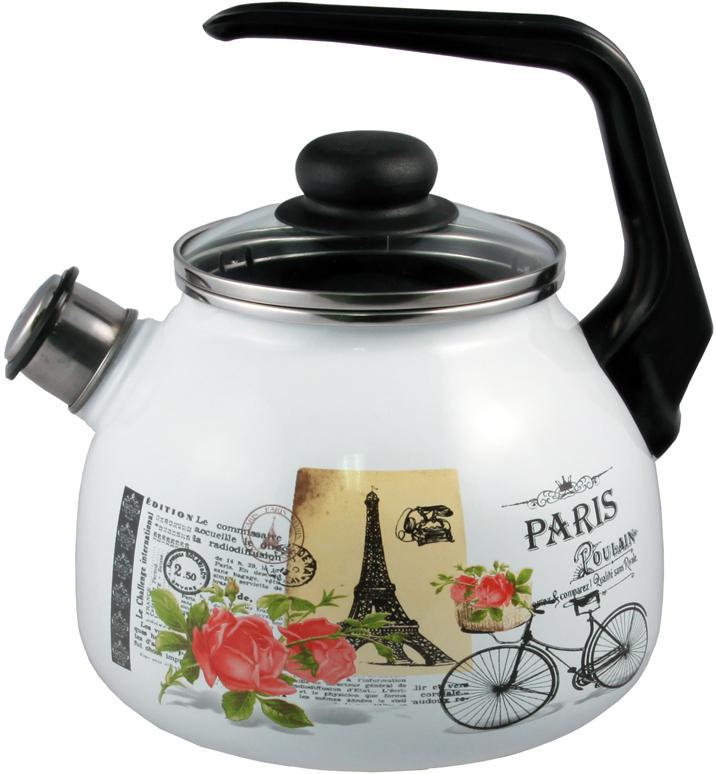 Чайник Appetite Париж, со свистком, 3 л чайник со свистком 3 8 л regent люкс 93 2503b 2
