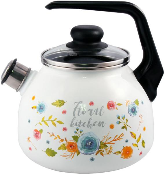 """Чайник эмалированный Appetite """"Floral Kitchen"""" - гигиеничен и устойчив к износу при длительном использовании. Гладкая и ровная поверхность существенно облегчает уход за посудой."""