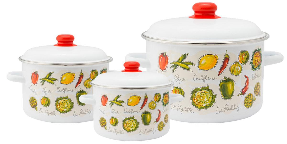"""Набор эмалированной посуды Appetite """"Гратен"""" станет украшением вашей кухни и поможет вам готовить вкусные блюда."""