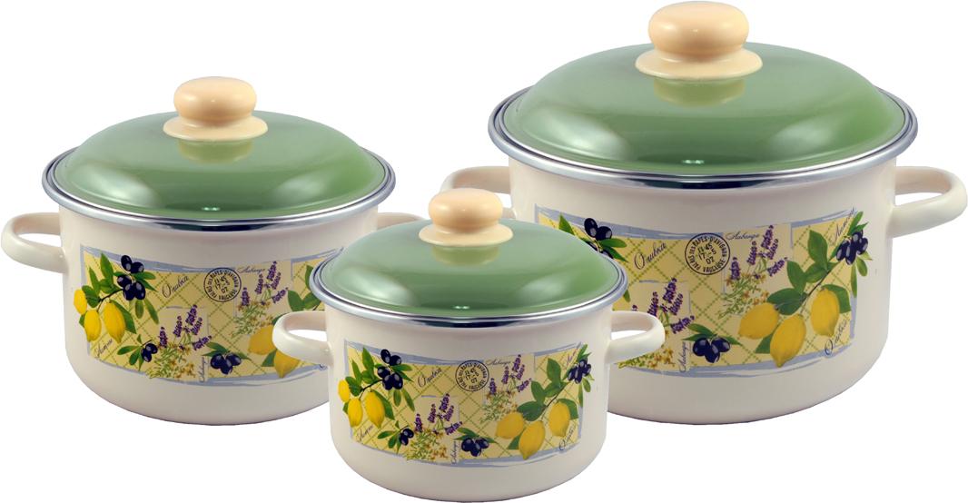 """Набор эмалированной посуды Appetite """"Citrus"""" станет украшением вашей кухни и поможет вам готовить вкусные блюда."""