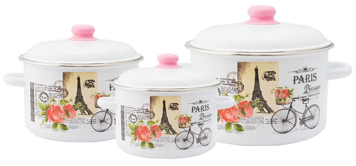 """Набор эмалированной посуды Appetite """"Париж"""" станет украшением вашей кухни и поможет вам готовить вкусные блюда."""