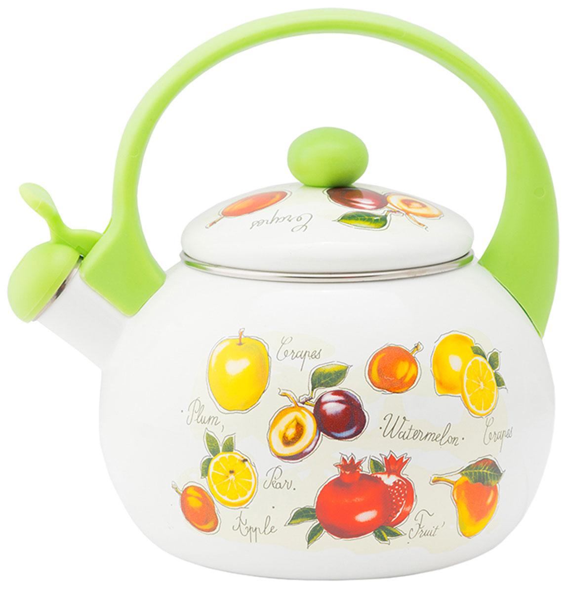 """Чайник эмалированный Appetite """"Гратен-фрукты"""" - гигиеничен и устойчив к износу при длительном использовании. Гладкая и ровная поверхность существенно облегчает уход за посудой."""