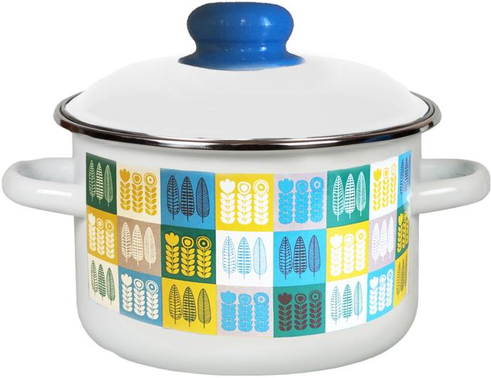 """Кастрюля эмалированная Appetite """"Мирта"""" станет украшением вашей кухни и поможет вам готовить вкусные блюда."""