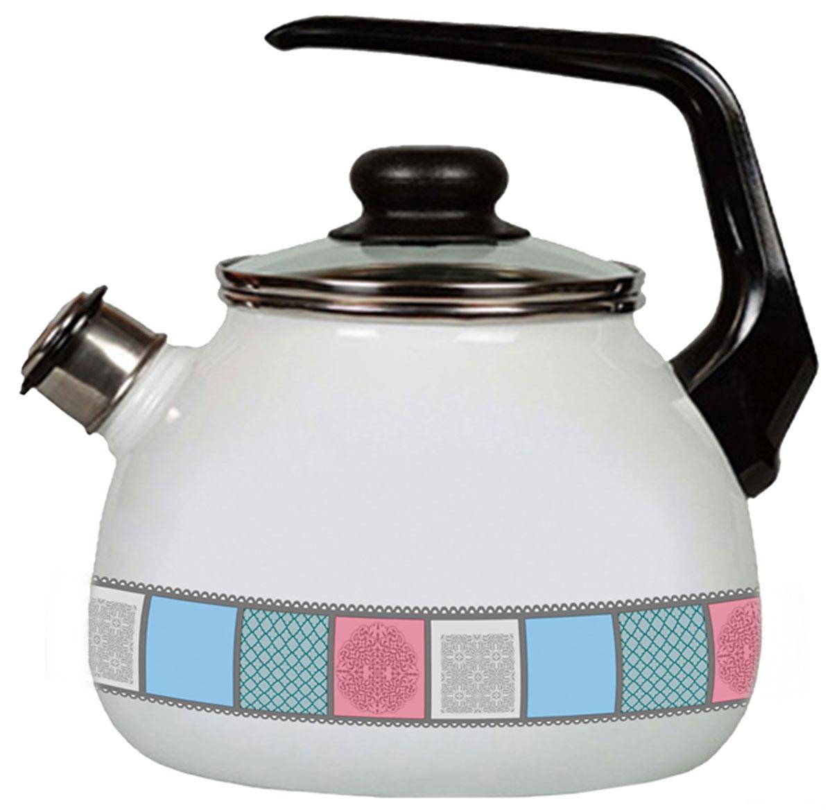 Чайник Appetite Пастель, со свистком, 3 л чайник со свистком 3 8 л regent люкс 93 2503b 2