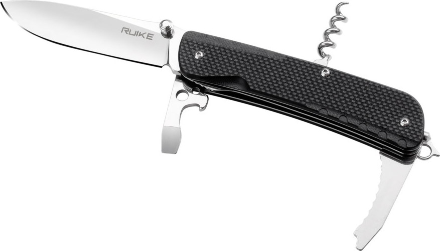 Нож cкладной туристический Ruike LD21-B, цвет: черный