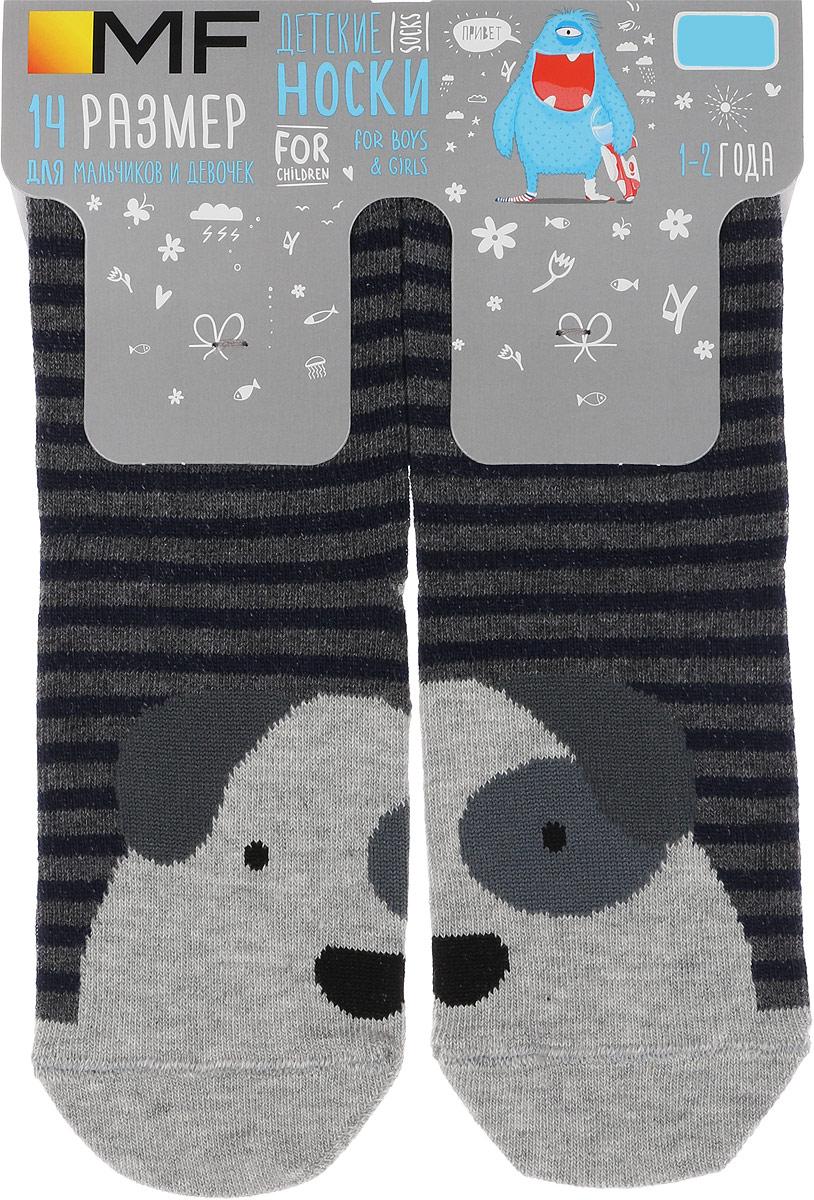 Носки детские Mark Formelle, цвет: серый меланж. 400K-309_B2-8400K. Размер 14 (22/24)