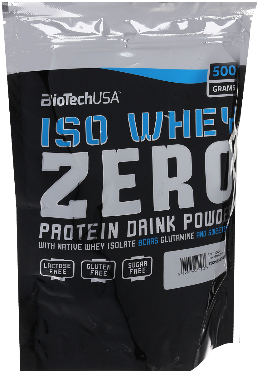 Протеин BioTech  Изо Вей Зиро лактоз фри , печенье и крем, 500 г - Протеины