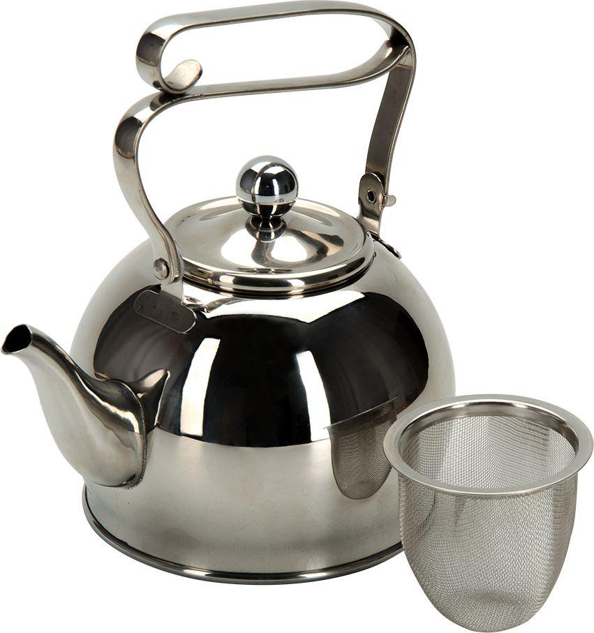 """Чайник заварочный Regent Inox """"Promo"""", с ситечком, 800 мл, цвет: металический"""