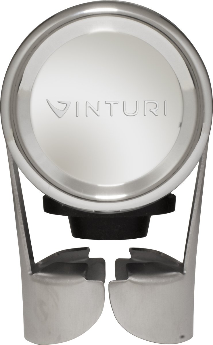 """Пробка для шампанского """"Vinturi"""" имеет уникальный дизайн и великолепное качество материалов. Одно движение и игристое вино в открытой бутылке надолго сохранит свой первоначальный вкус."""