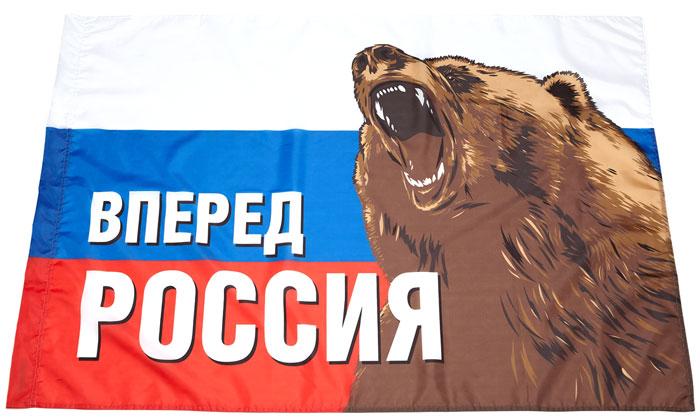 "Флаг РусФлаг ""Триколор. Медведь"", 90 х 135 см"