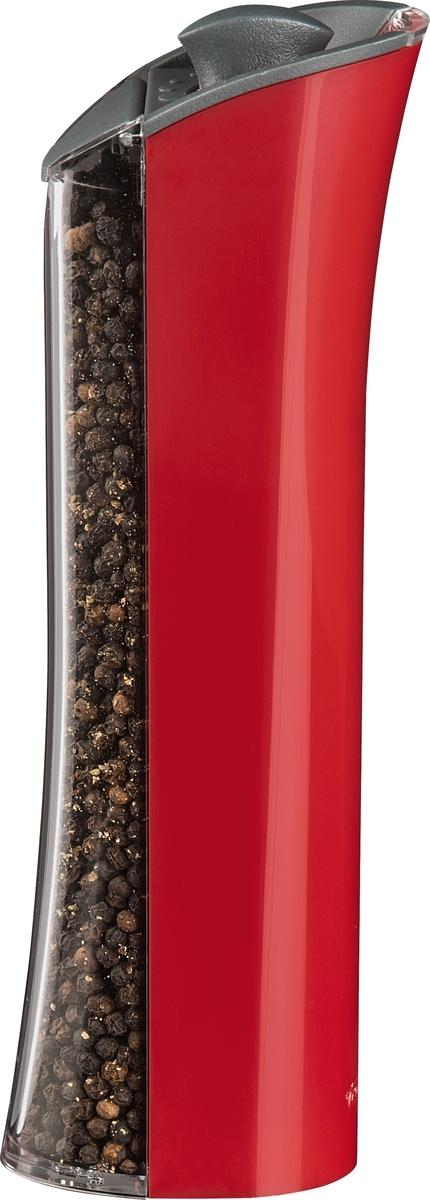 Электрическая мельница Graviti Plus предназначена для перемола всех видов перца, крупной соли и других специй. Работа активируется простым наклоном. Ёмкость отделена от блока батарей, что делает её пополнение или замену элементов питания простым и удобным. В комплект входит воронка для лёгкого пополнения ёмкости. Керамический механизм помола справляется с перцем и морской солью. Регулятор степени помола расположен сверху для удобства изменения. Поставляется в подарочной упаковке. Высота: 20,3 см Диаметр: 9,0 см