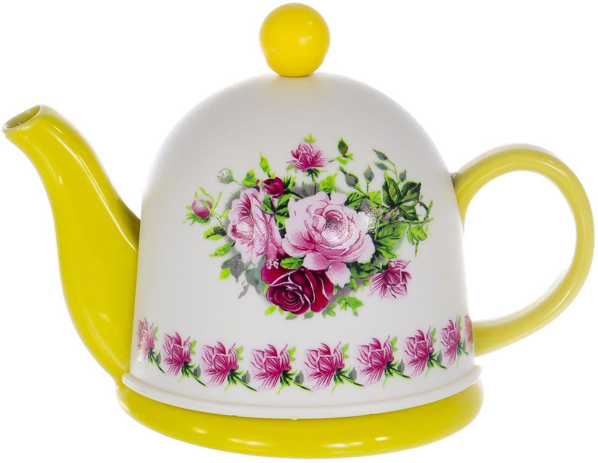 Чайник заварочный Elrington, 450 мл. SFYT027S-38 чайник заварочный elrington глазурь с фильтром цвет красный 950 мл