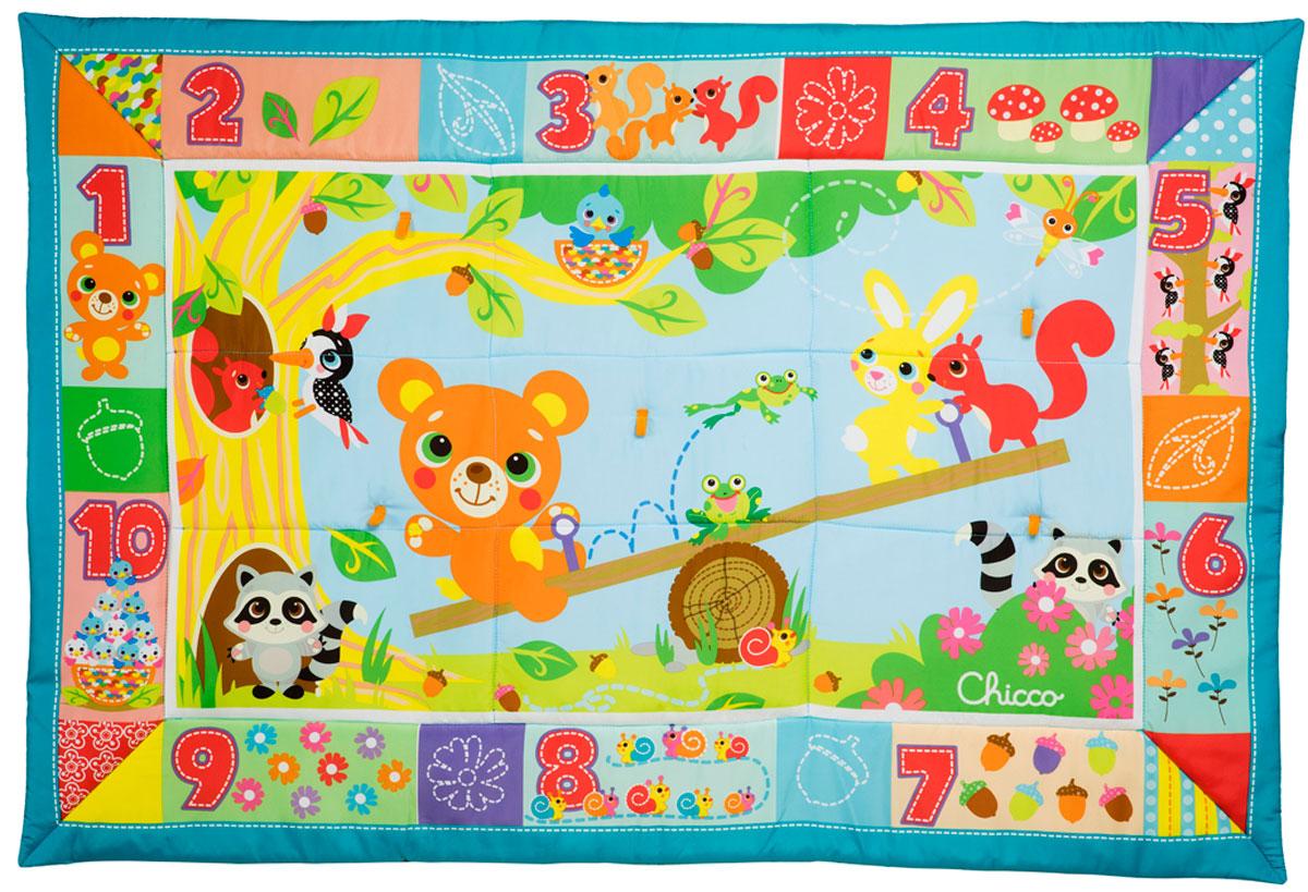 Chicco Развивающий коврик Лесные друзья цвет зеленый игровые центры oribel лесные друзья