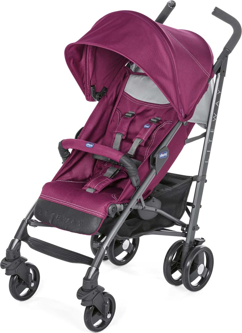 Chicco Коляска Lite Way3 Top Red Plum с бампером коляска 2 в 1 chicco trio stylego red passion