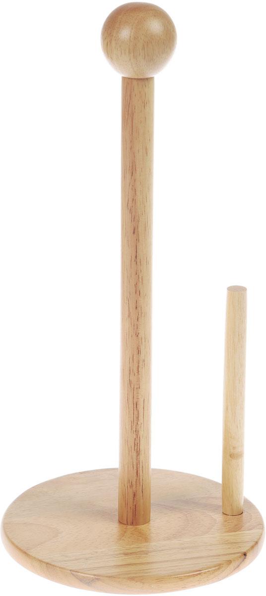 """Держатель для бумажных полотенец """"Travola"""", изготовленный из каучукового дерева, оснащен круглым основанием, которое обеспечивает его устойчивость. Также изделие имеет дополнительный фиксатор. Вы можете установить его в любом удобном месте. Такой держатель для бумажных полотенец станет полезным аксессуаром в домашнем быту и идеально впишется в интерьер современной кухни.Размер держателя: 16 х 16 х 34 см."""