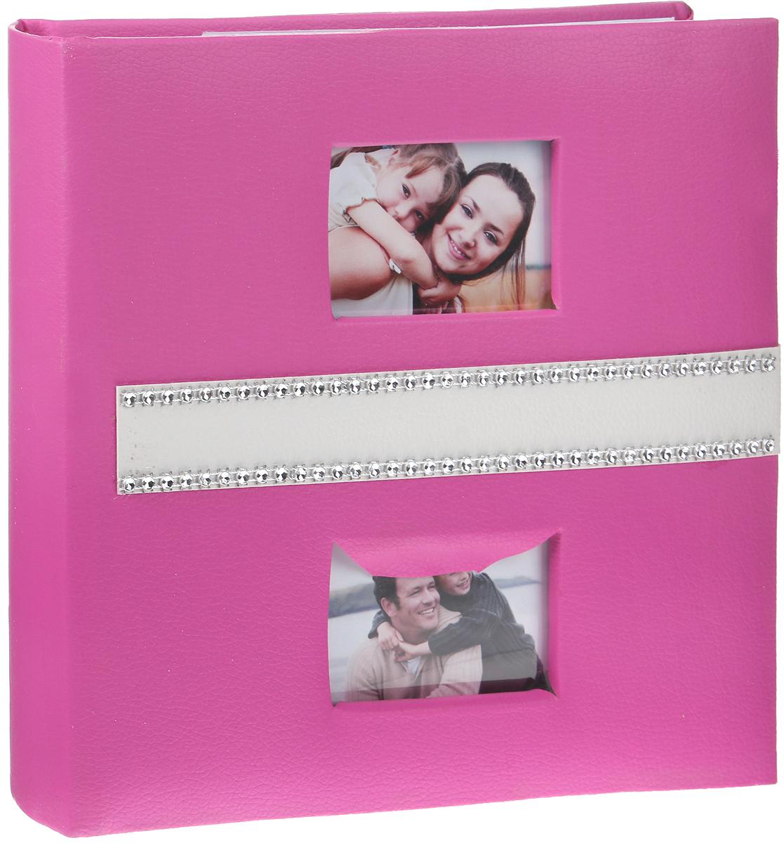 Фотоальбом Brauberg, с рамкой для фото, цвет: розовый, 20 магнитных листов, 23 x 28 см фотоальбом 10 магнитных листов 23 28см pioneer gold princess на спирали