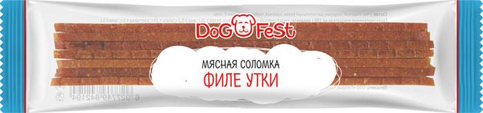 Лакомство для собак Dog Fest Мясная соломка филе утки, 120 г, 20 шт лакомство для собак dog fest легкое говяжье 70 г
