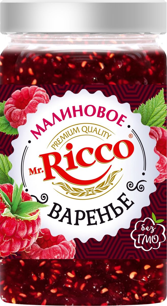 Mr.Ricco Варенье малиновое, 310 мл секрет стройности варенье вишня 200 мл