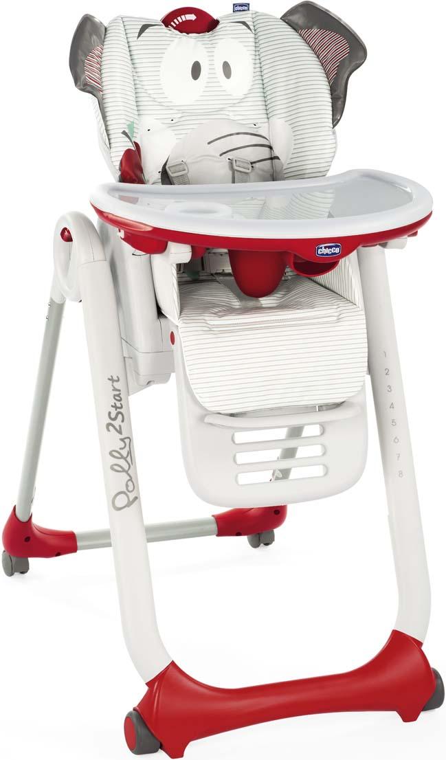 Стульчик Polly 2 Start Слоненок 4 колеса от 0 месяцев стульчик для кормления от 0 месяцев