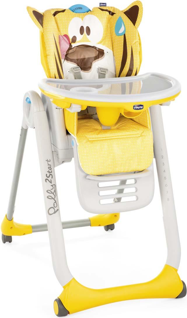 Стульчик Polly 2 Start Тигренок 4 колеса от 0 месяцев стульчик для кормления от 0 месяцев