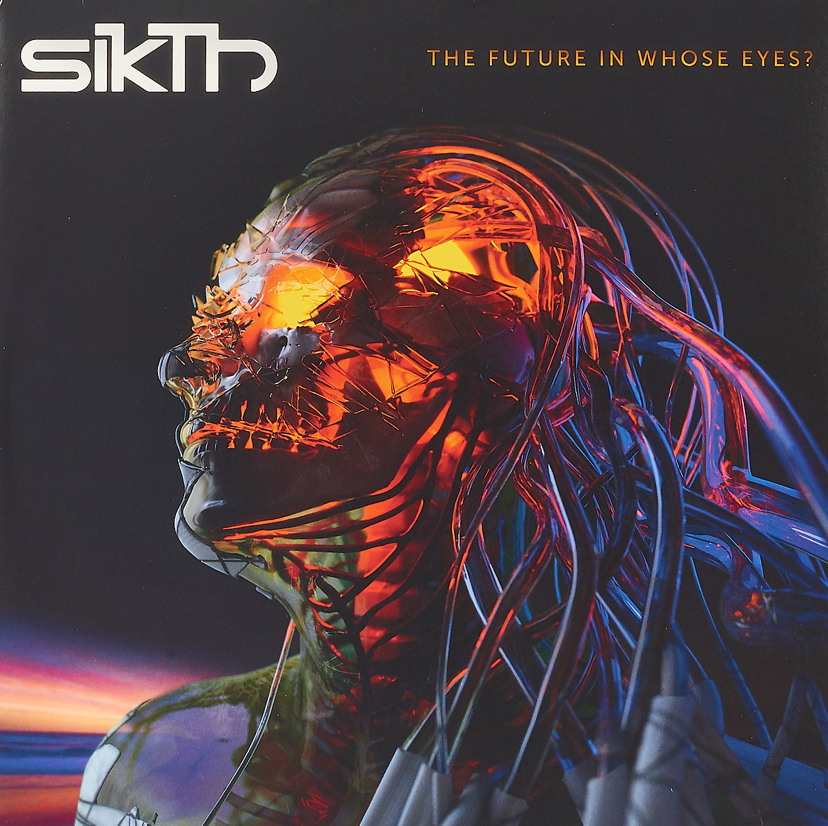Sikth Sikth. The Future In Whose Eyes? (Neon Orange Splatter Vinyl) (LP) new stuffed light brown squint eyes teddy bear plush 220 cm doll 86 inch toy gift wb8316