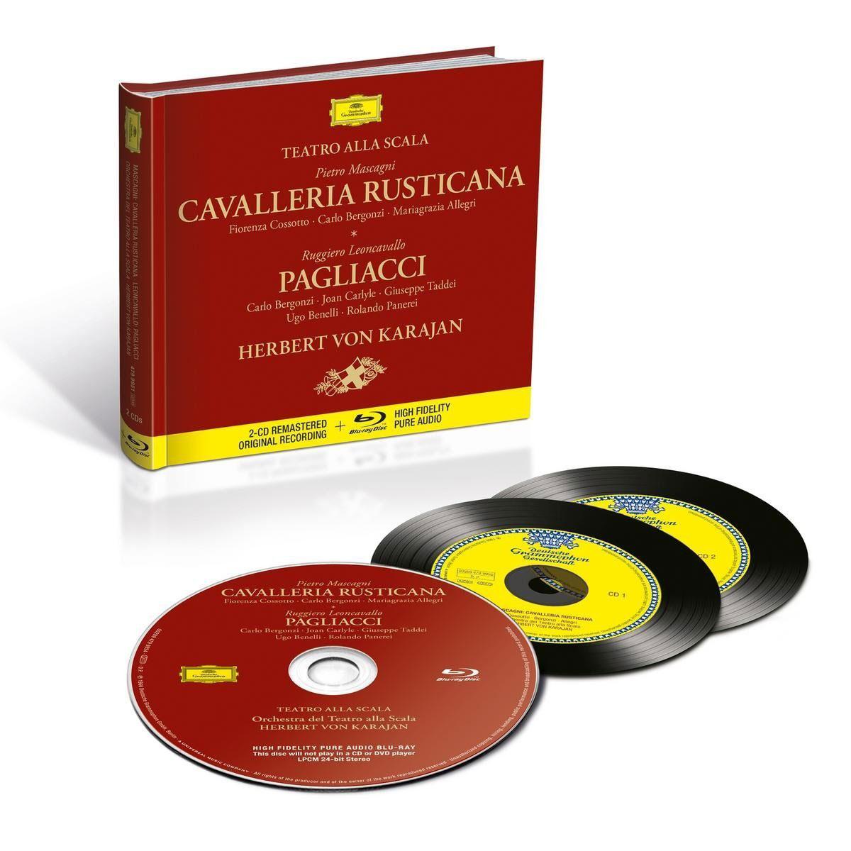 Herbert Von Karajan. Mascagni: Cavalleria Rusticana / Leoncavallo: Pagliacci (2 CD + Blu-ray) verdi herbert von karajan messa da requiem