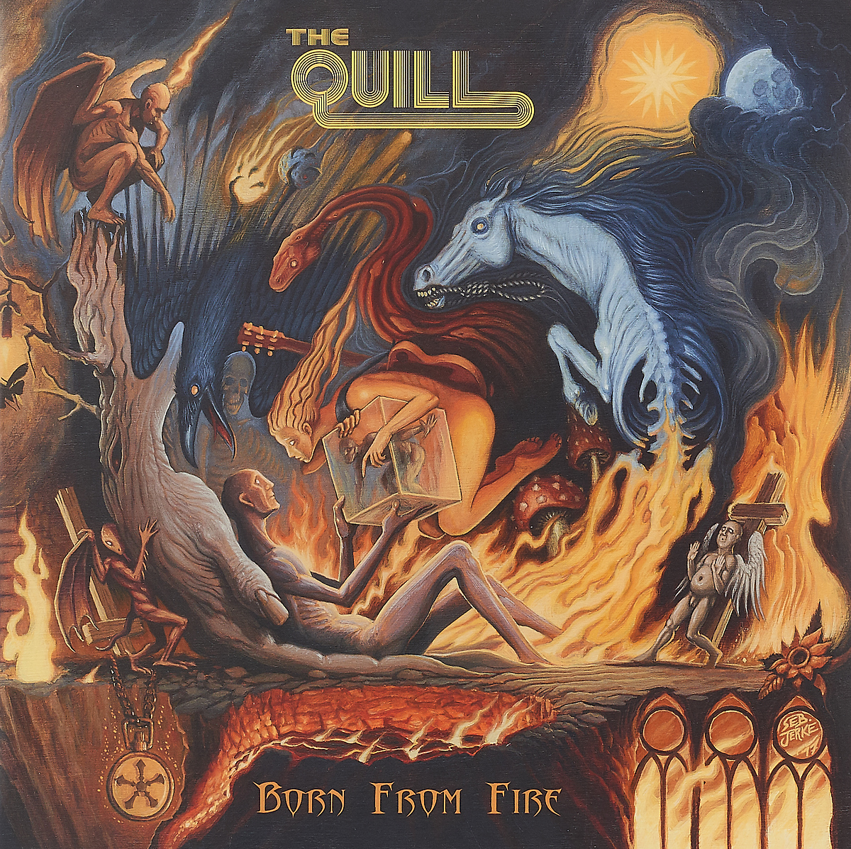 The Quill. Born From Fire (2 LP) born in fire