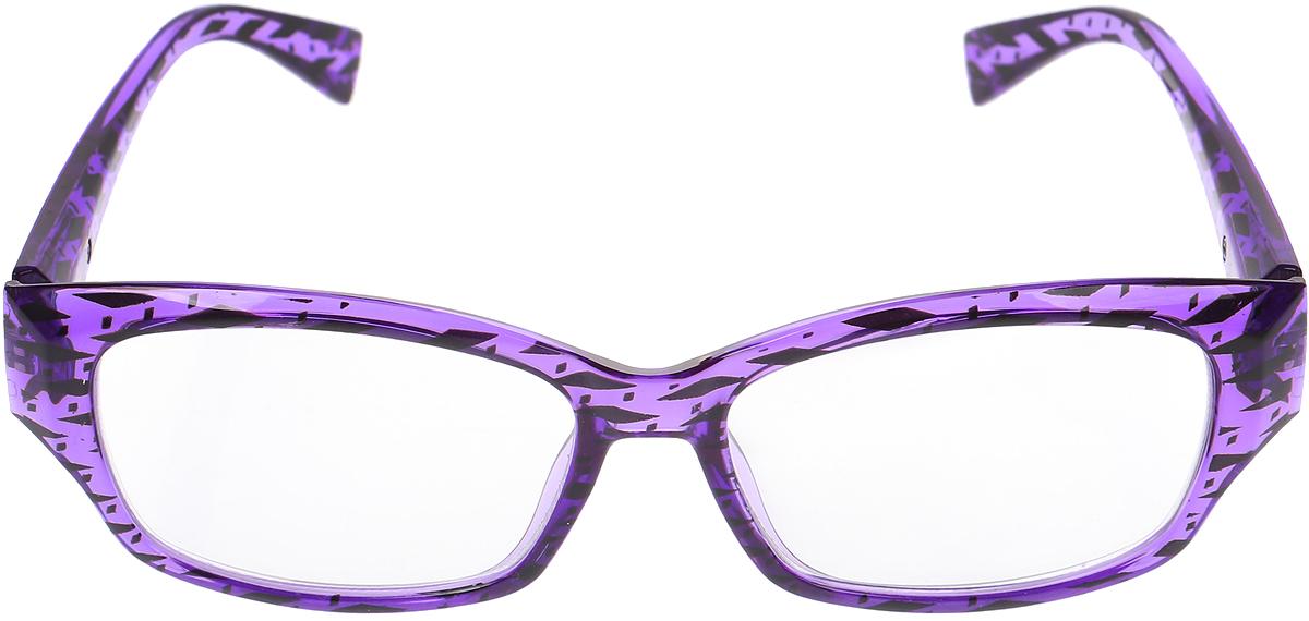 Proffi Home Очки корригирующие (для чтения) 729 Fabia Monti +2.00, цвет: фиолетовый proffi home очки корригирующие для чтения 322 fabia monti 3 00 цвет прозрачный дужки черные