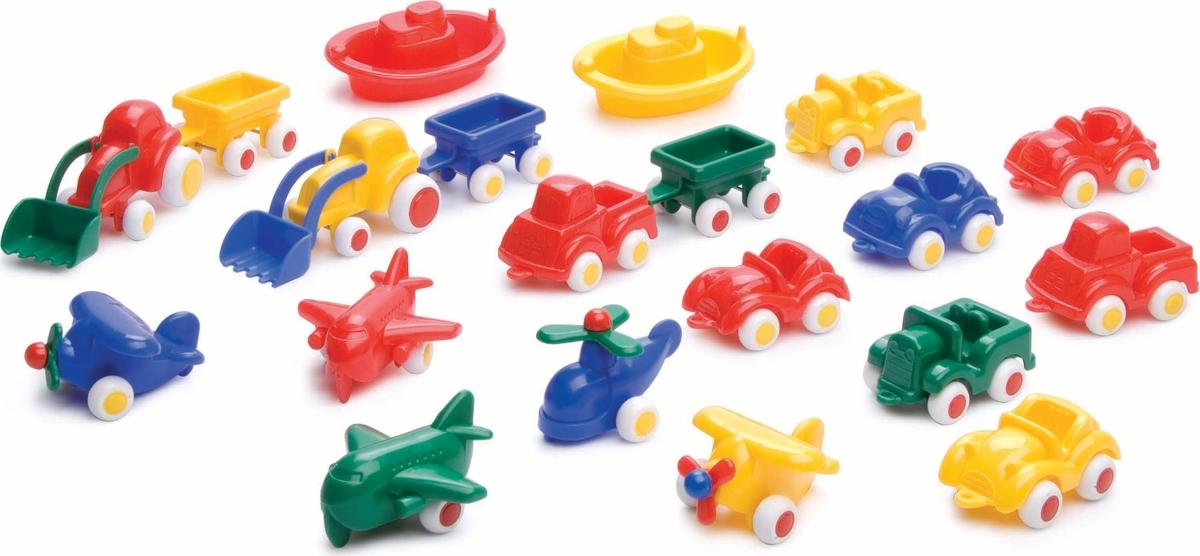 Viking Toys Игровой набор машинок и авиатехники Мини 20 предметов деревянные игрушки letoyvan набор машинок маленький лондон