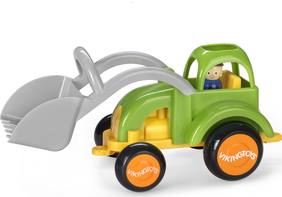Viking Toys Трактор Fun Color с ковшом с двумя фигурками 5 boxes tien nutrient super calcium tien s super calcium produced in nov 2017