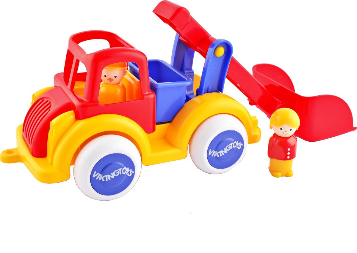 Viking Toys Машинка Строительная с ковшом с двумя фигурками функциональная машинка врумиз люси