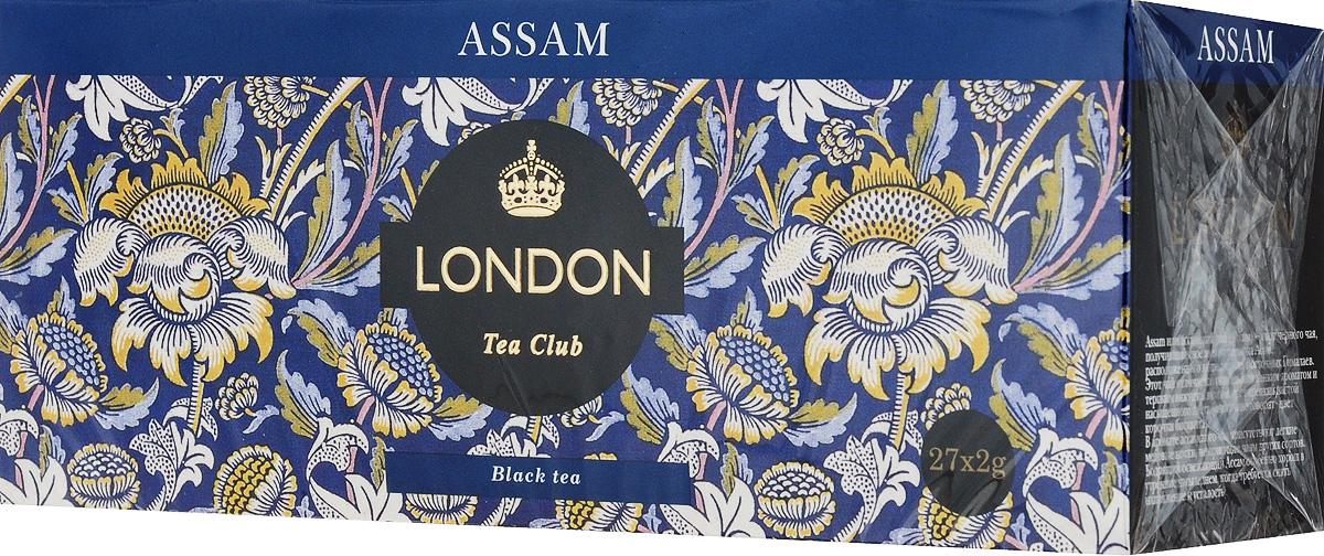 London Tea Club Аssam черный чай в пакетиках, 27 шт newby assam черный чай в пакетиках 25 шт