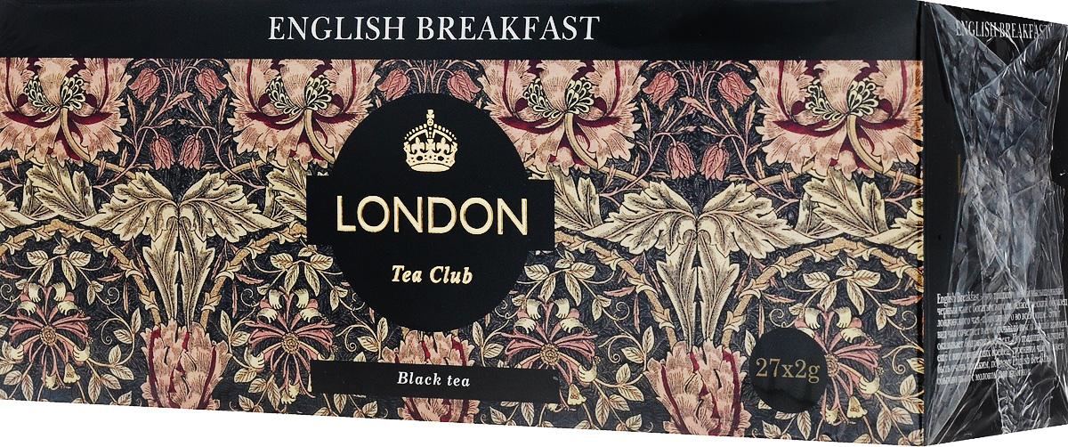 London Tea Club English Breakfast чай черный в пакетиках, 27 шт modern tea дахунпао 20 пакетиков растворимый чай 100