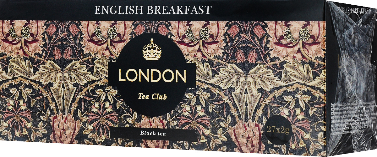 London Tea Club English Breakfast чай черный в пакетиках, 27 шт chinese glutinous rice fragrant pu er tea mini yunnan candy paper package ripe tea