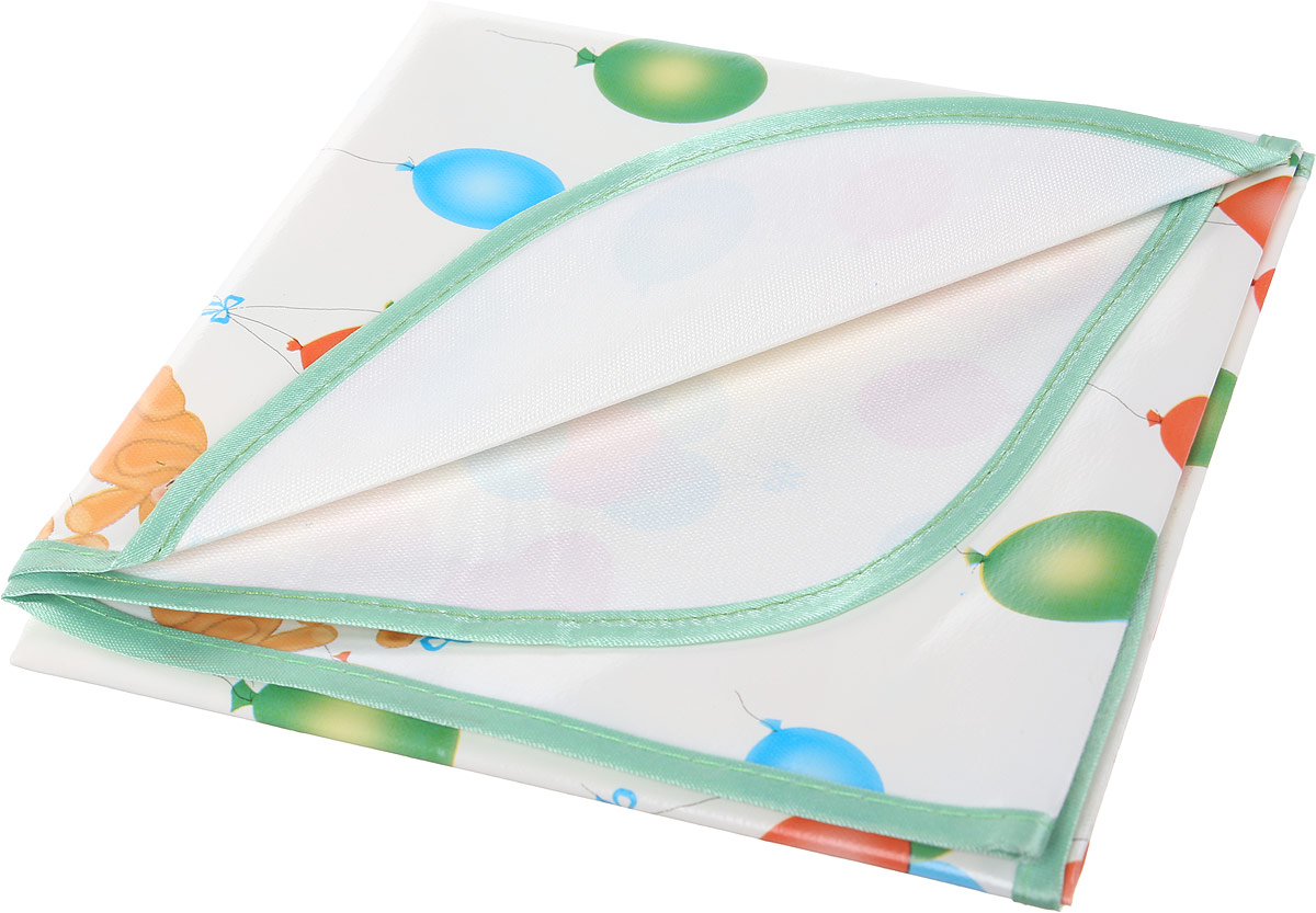 Колорит Клеенка подкладная с окантовкой цвет белый зеленый 50 х 70 см