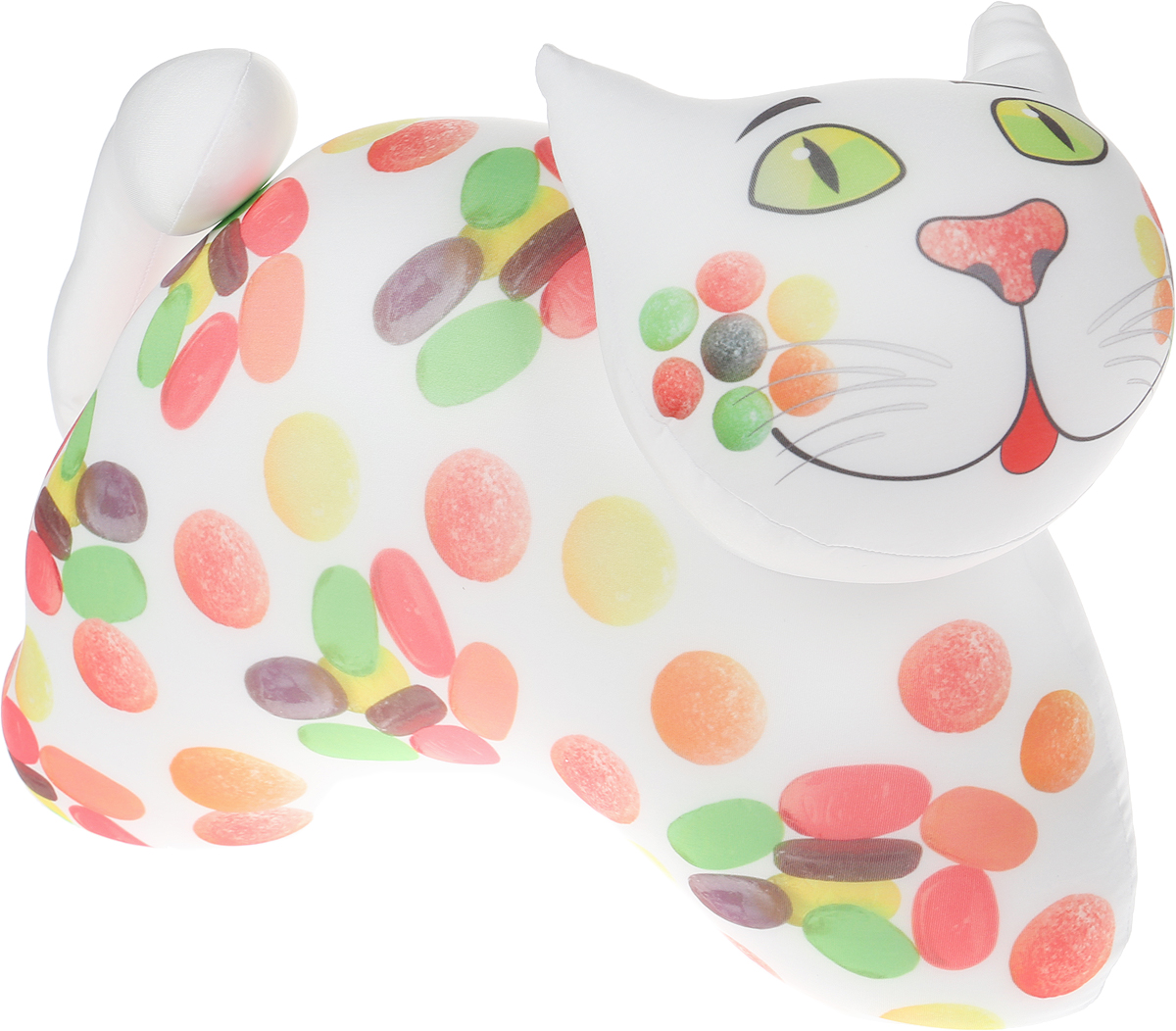 Штучки, к которым тянутся ручки Подушка-игрушка антистрессовая Кот Сладенький цвет белый