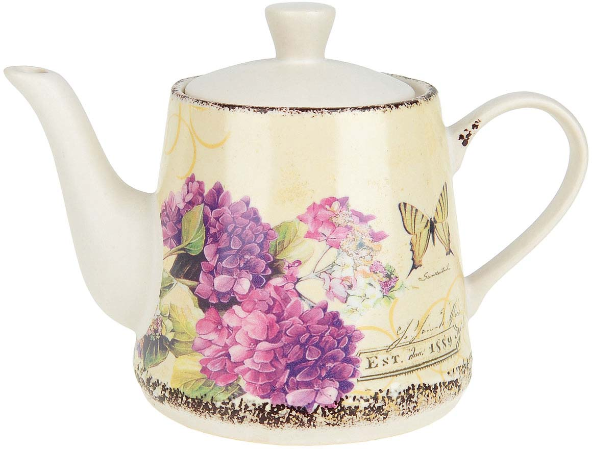 """Заварочный чайник """"Целебная гортензия"""" изготовлен из качественной керамики.Универсальный орнамент подойдет к любому интерьеру."""