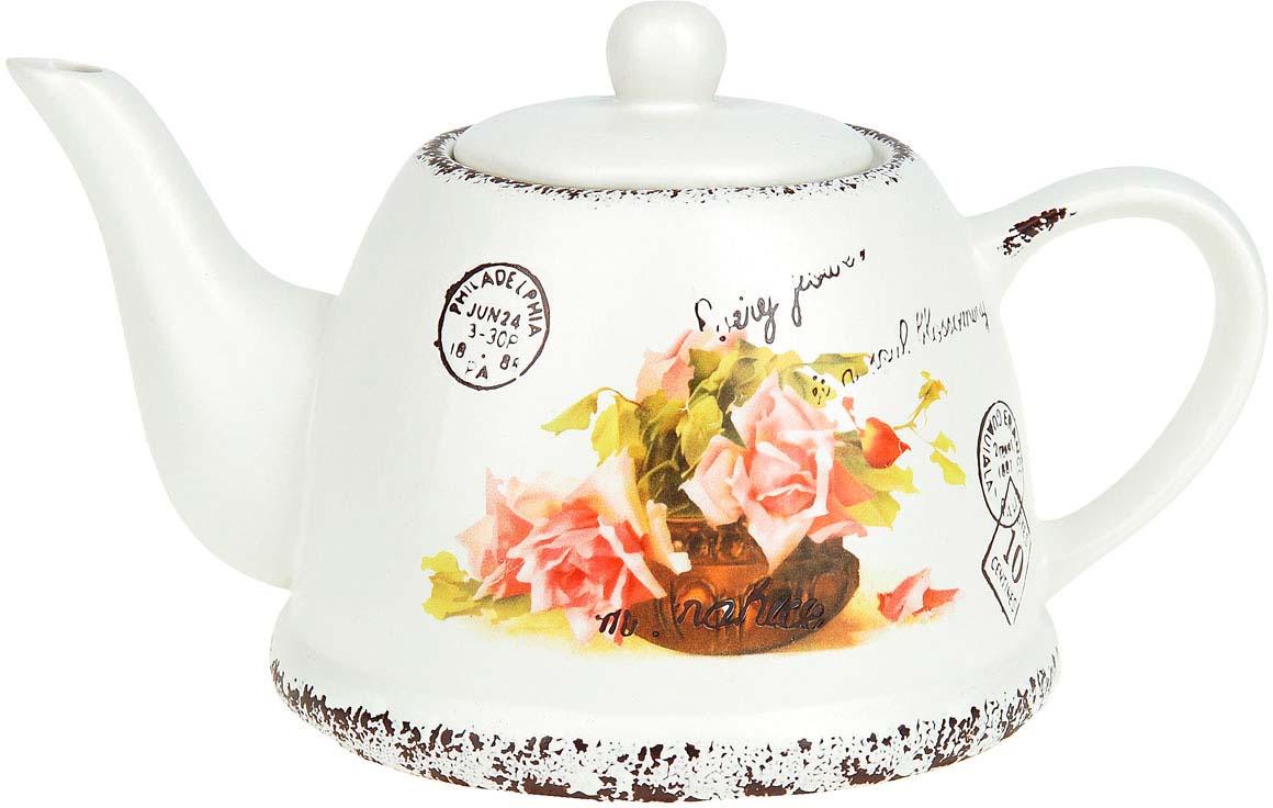 Чайник заварочный ENS Group Персиковая роза, 1 л чайник заварочный 1000 мл ens group чайник заварочный 1000 мл