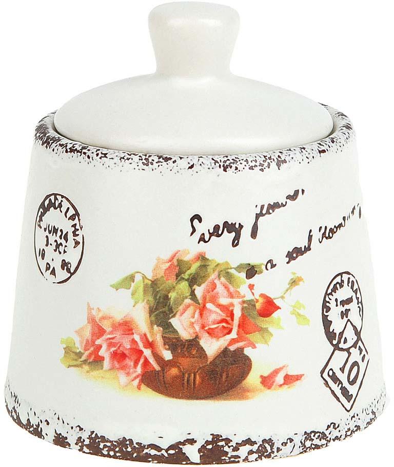 Сахарница ENS Group Персиковая роза, 200 мл