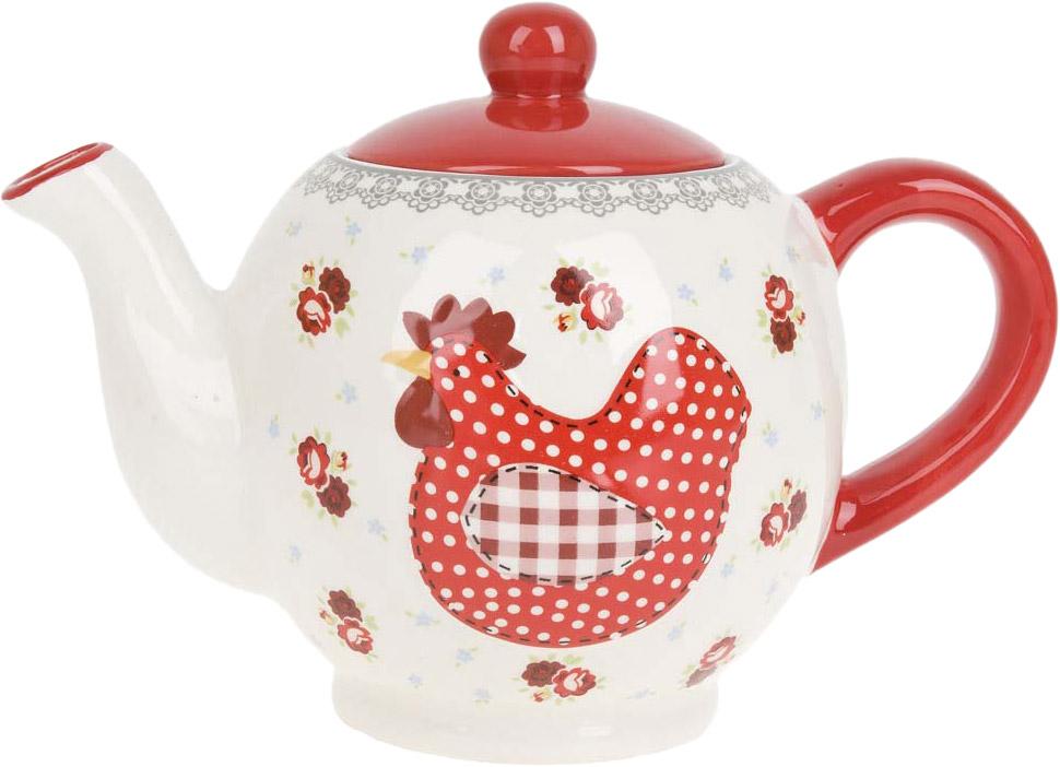 """Заварочный чайник """"Красный петушок"""" изготовлен из качественной керамики.Универсальный орнамент подойдет к любому интерьеру."""